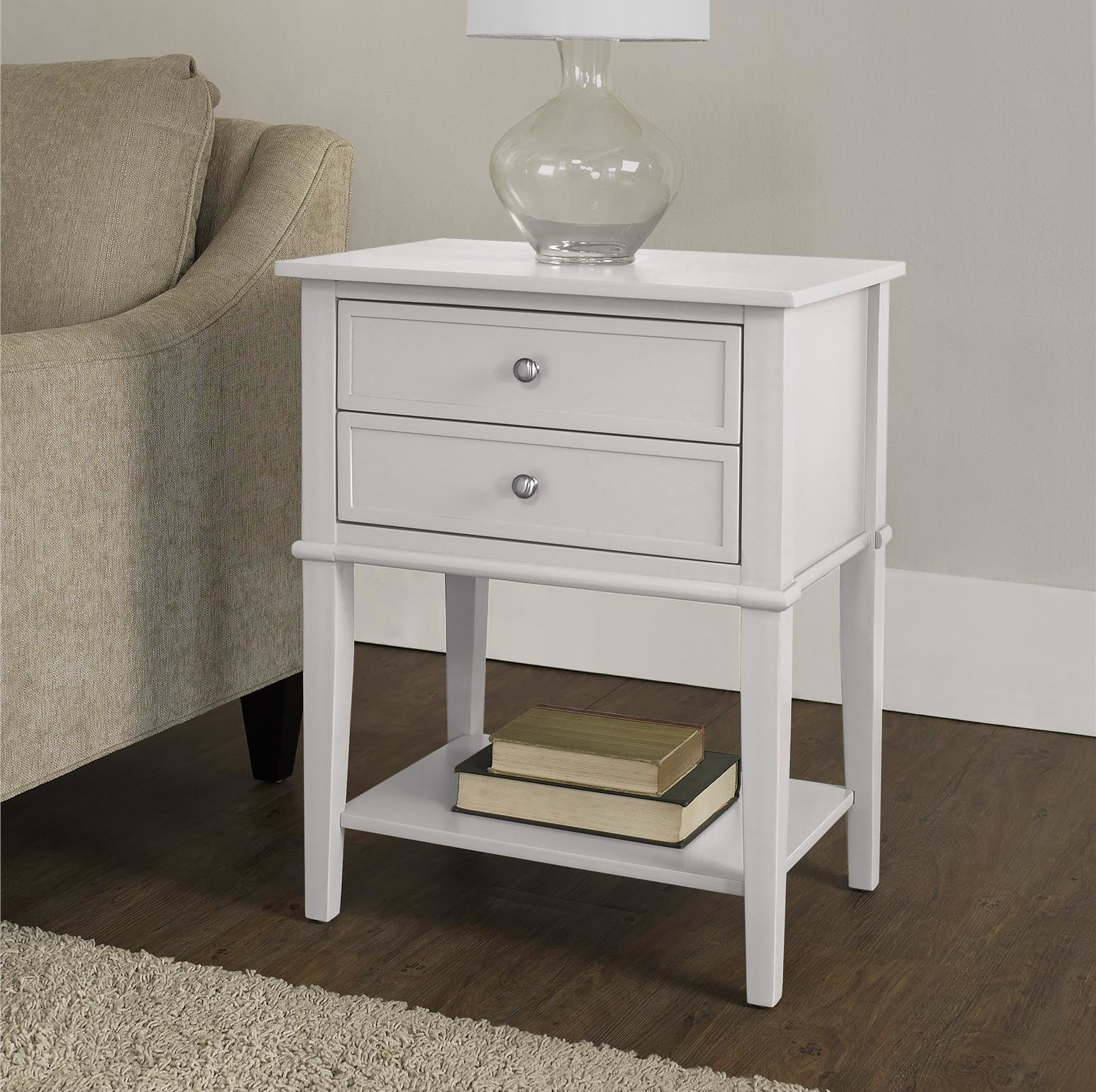 small white accent table dmitry end with storage ifrane quickview glass top corner pottery barn dining set telephone ikea wood mirror argos side tables door entry target furniture