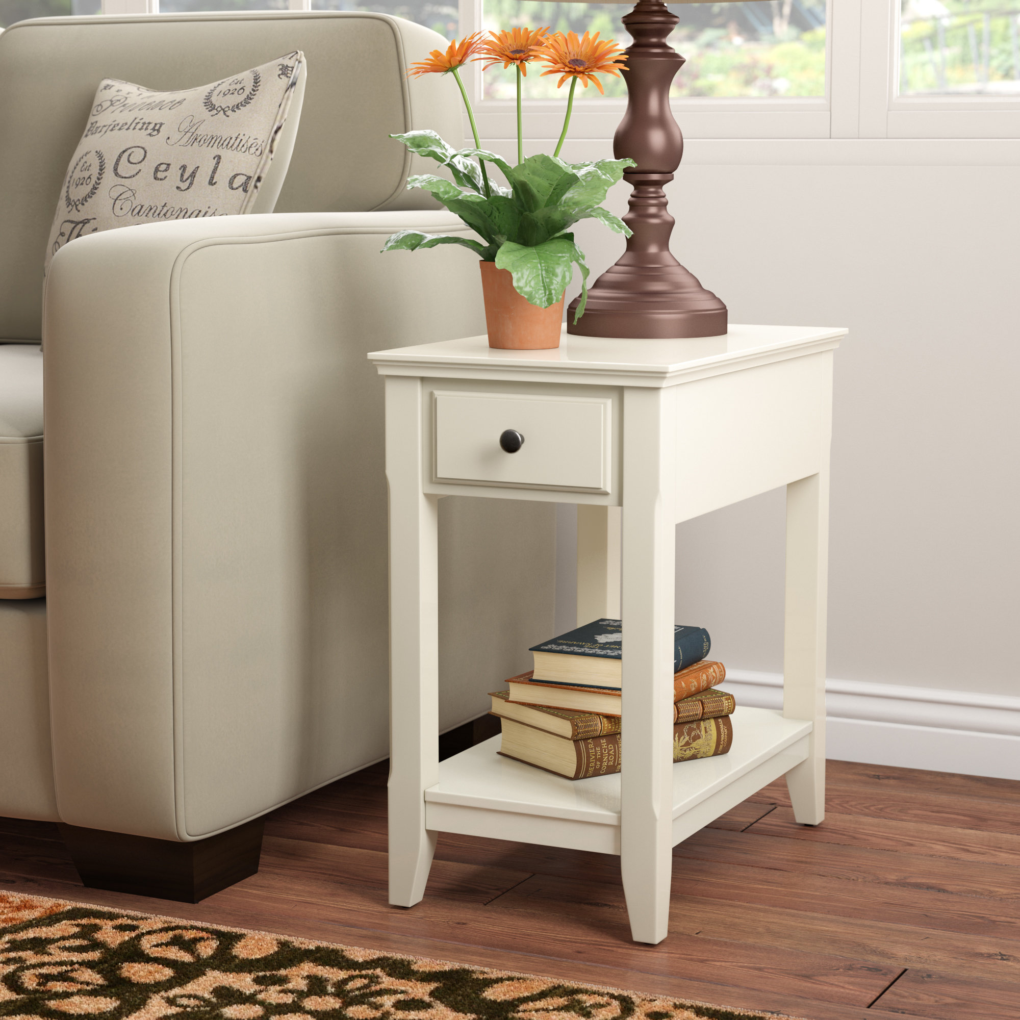 small white accent table hillyard end with storage ifrane quickview nautical light fixtures indoor dark brown round coffee mirrored pottery barn dining set bar height for stool
