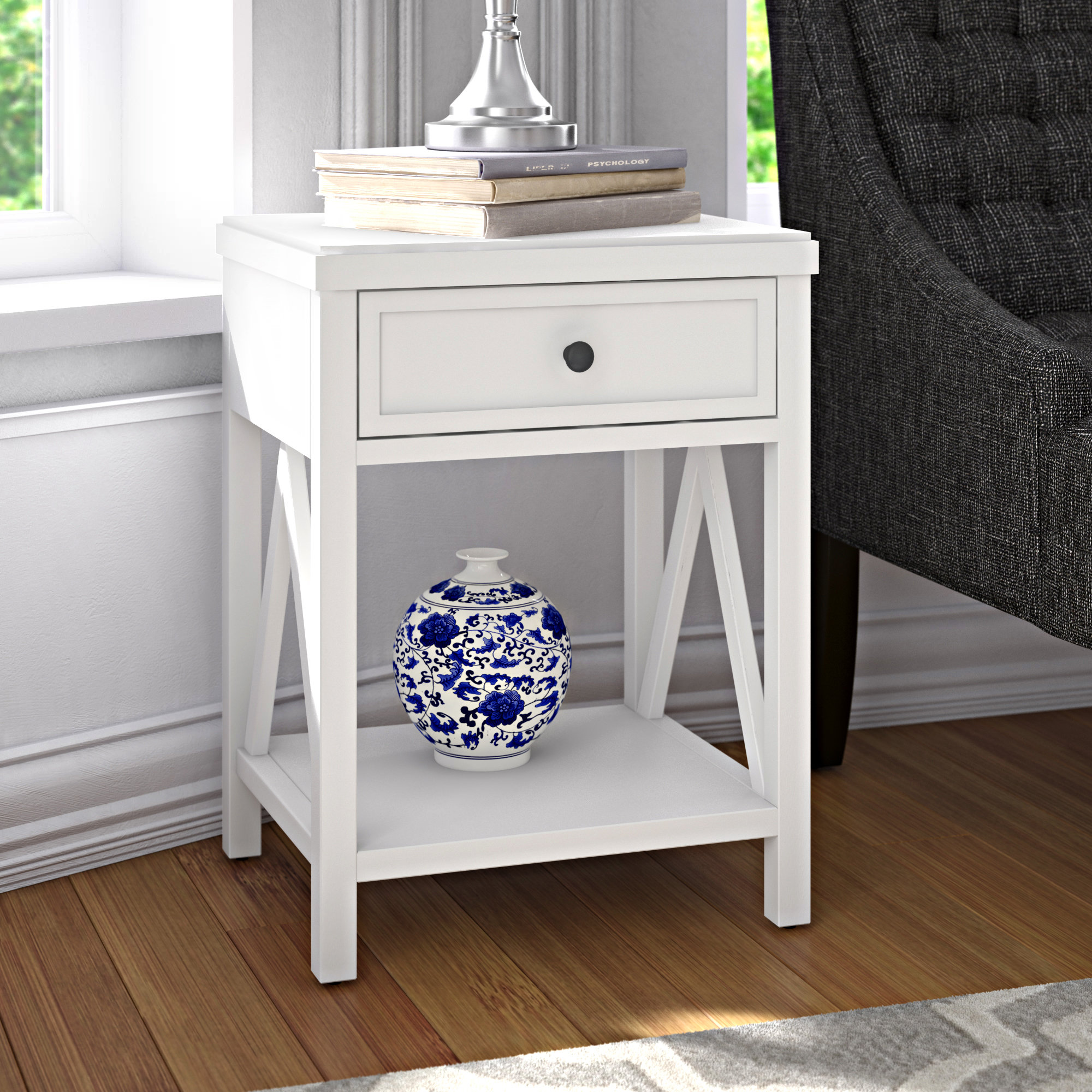 small white accent table laurel end with storage black room essentials quickview cherry wood dining furniture hampton bay patio cushions bombay company pier one lamps world market