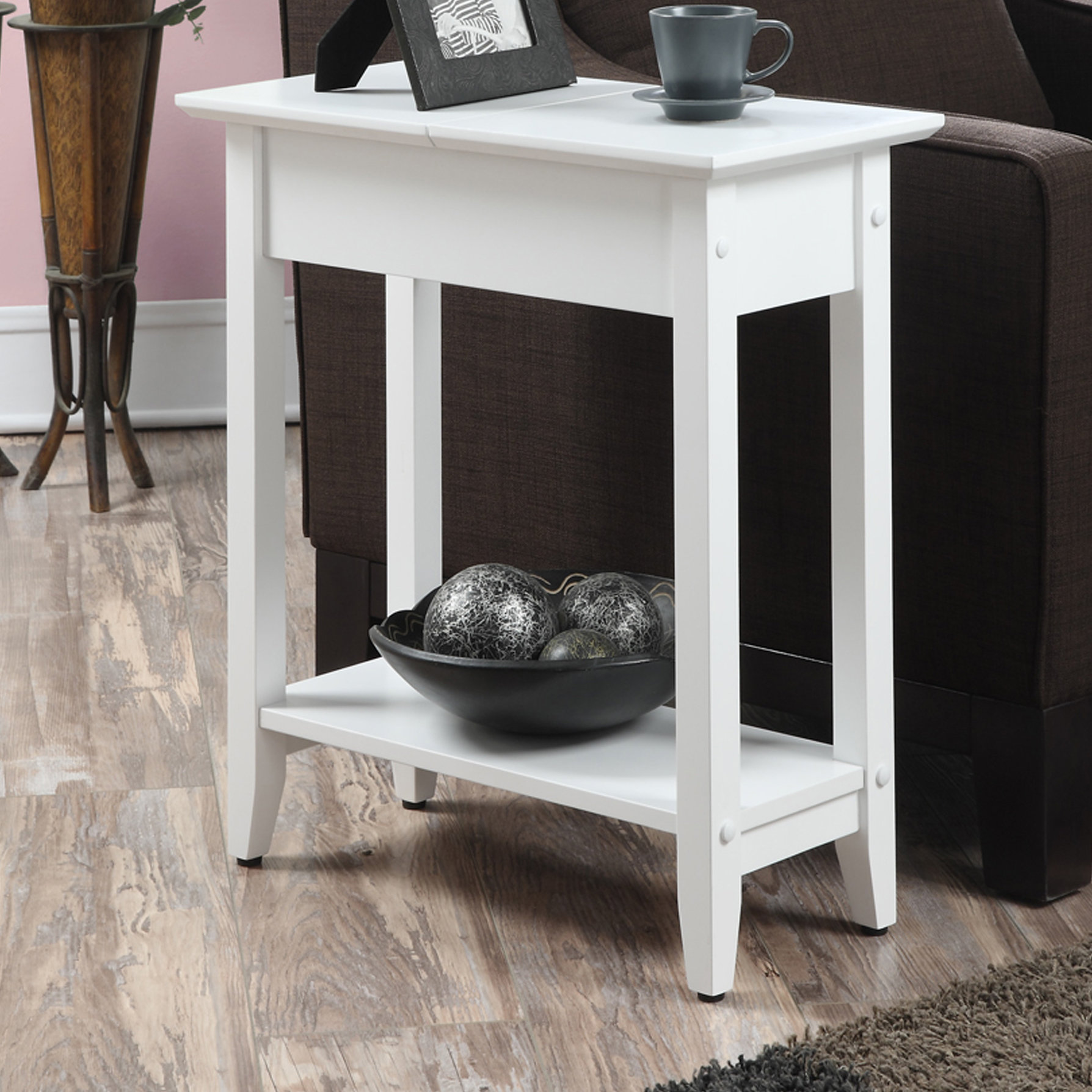 small white accent table lucile flip top end patchen quickview vintage brass glass coffee target winsome patio with umbrella hole marble pedestal wood timber night stand foyer