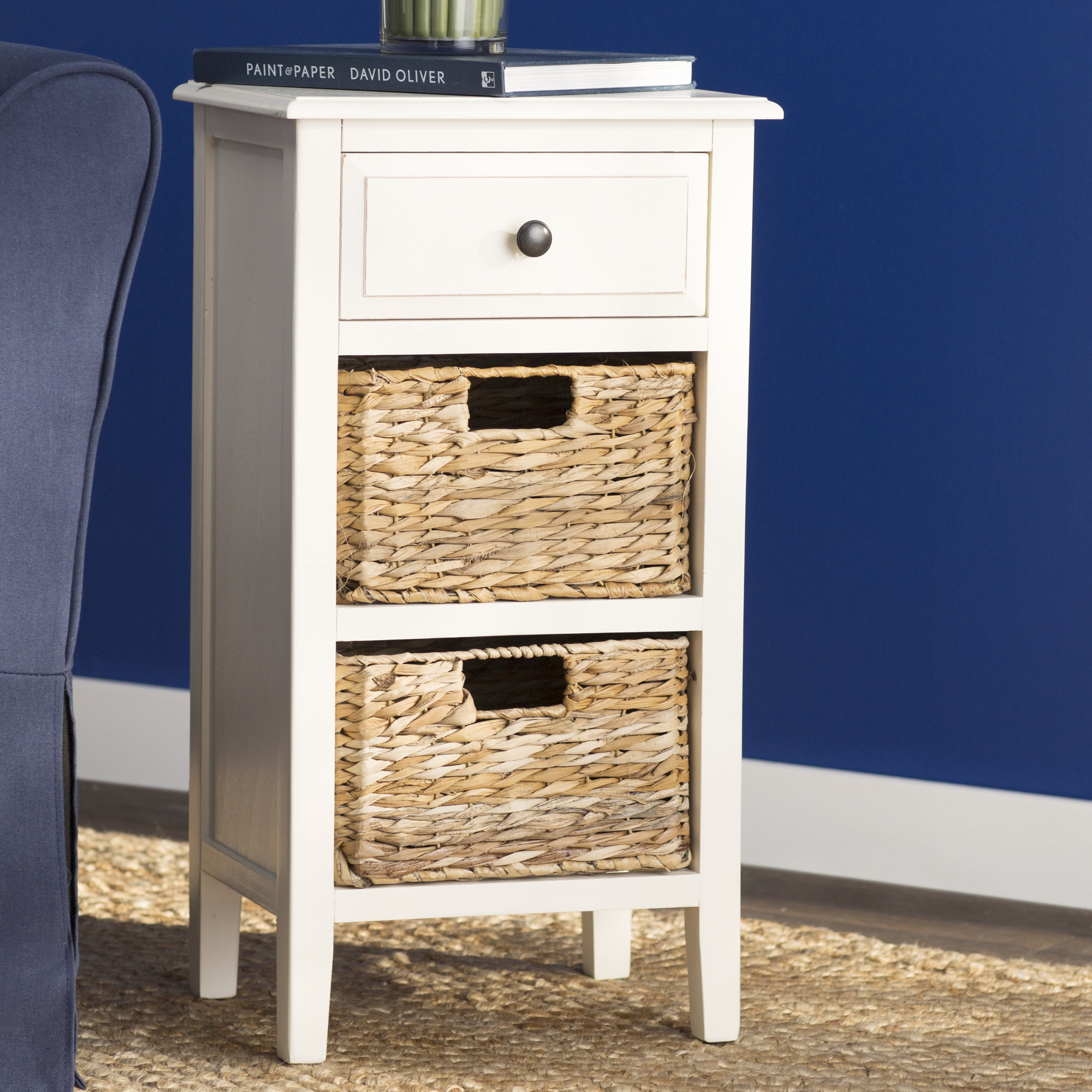 small white accent table point end woven metal quickview narrow side cabinet modern sofa three coffee tables blue and umbrella stand ashley furniture harrietta piece set magnussen