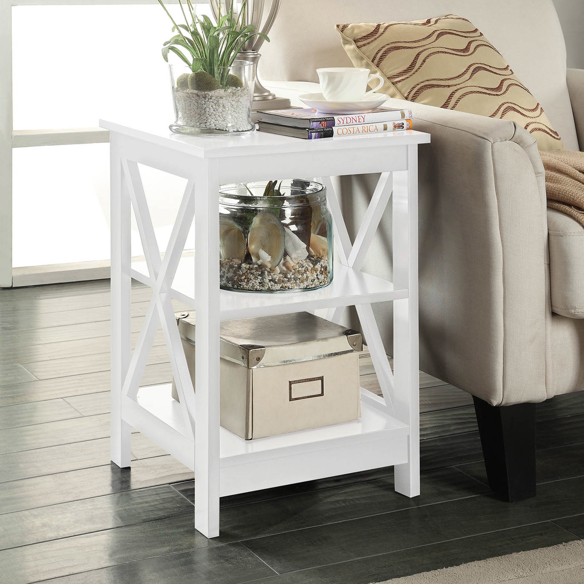 small white accent table stoneford end quickview wilcox furniture oak wood side nate berkus bath rug folding patio set cabinet patchwork armchair wine storage crystal lamp british