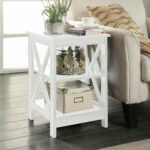 small white accent table stoneford end room essentials stacking quickview design plans decorative storage trunks bridal shower registry ideas shaped tall nightstand navy blue lamp 150x150