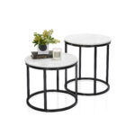 small white outdoor side table the super art van clearance coffee marble with black base mini coco republic noho round large furniture tables other items from collection top 150x150