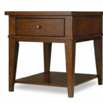 small wood cherry end tables with storage for living room low accent table black console balcony and chairs ikea shelves bins whalen furniture outdoor chair cushions fitted vinyl 150x150