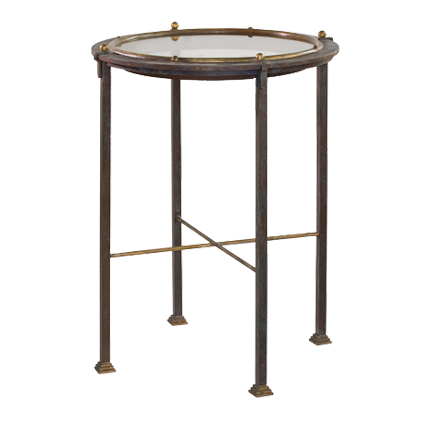snap metal virgil accent table fireplaces club chairs and love this david iatesta studio porthole furniture side tables industrial traditional house interior ideas counter height