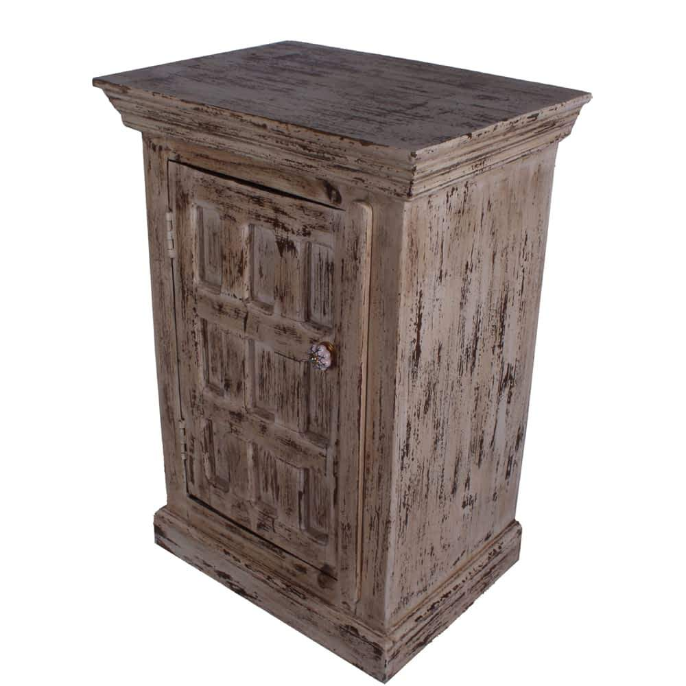 snow white distressed solid mango wood nightstands end table nightstand endtable cabinet accent moroccan furniture bazaar pub style height patio dining dale tiffany lamp shade
