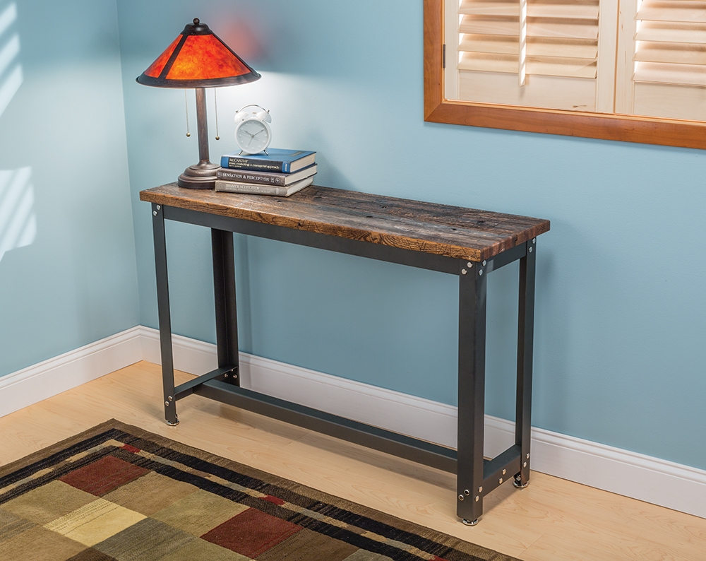 sofa table furniture kitrockler adds contemporary diy accent tables new steel ideas small round tablecloth large lamp shades fine linens metal console legged black distressed