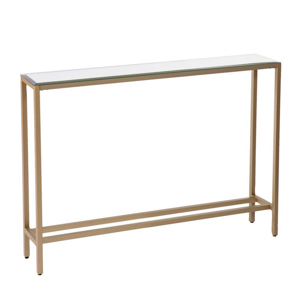 sofa with console painted table inch tall slim carved narrow accent large size tables cherry oak furniture room essentials office chair outdoor storage cabinet gold brass coffee