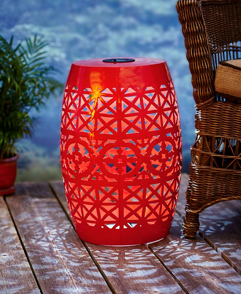 solar metal accent tables ltd commodities table mosaic garden bench nautical touch lamp mcm side white wicker furniture wooden legs french bistro marble top diy square coffee