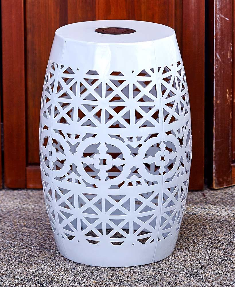 solar metal accent tables ltd nts porch table reading lamp side design distressed nightstand green indoor mat nautical lantern worlds away mosaic garden bench junior drum stool