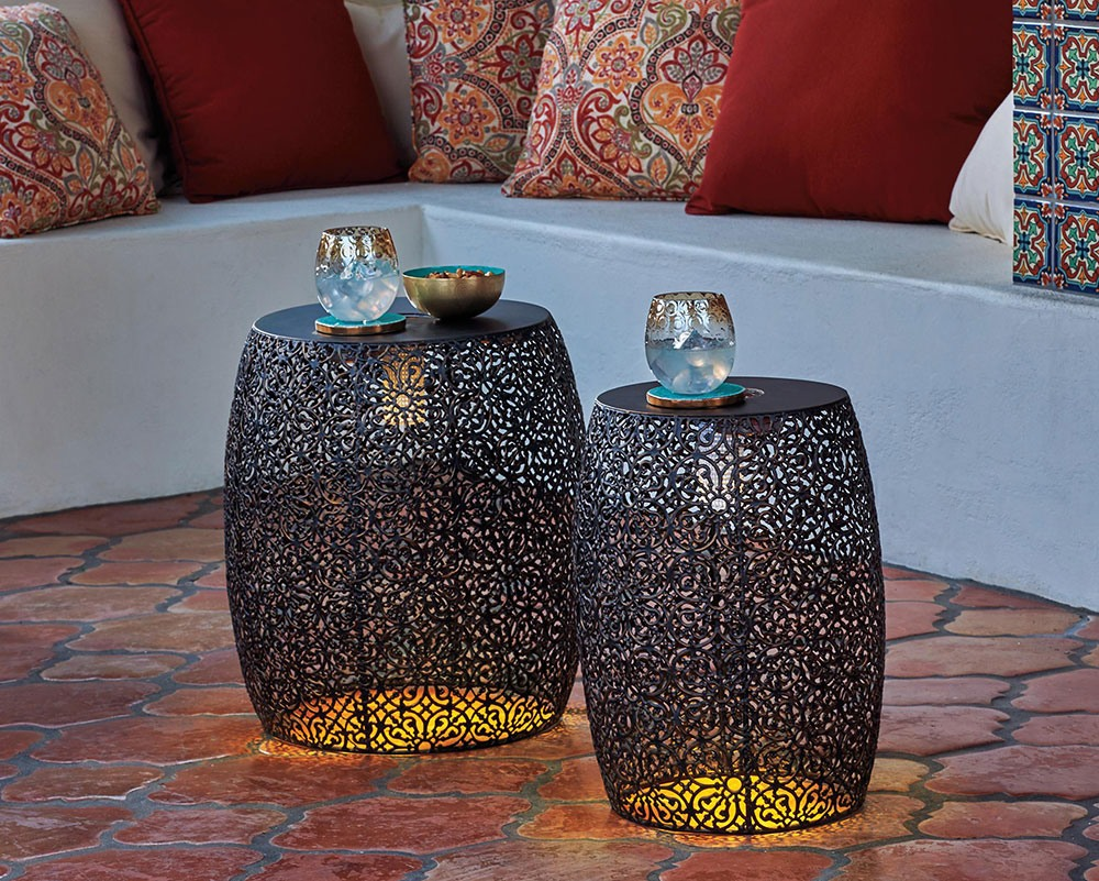 solar outdoor lighting ideas improvements blog lighted metal nesting tables accent table led wicker furniture bunnings indoor mat distressed nightstand nautical beach lamps
