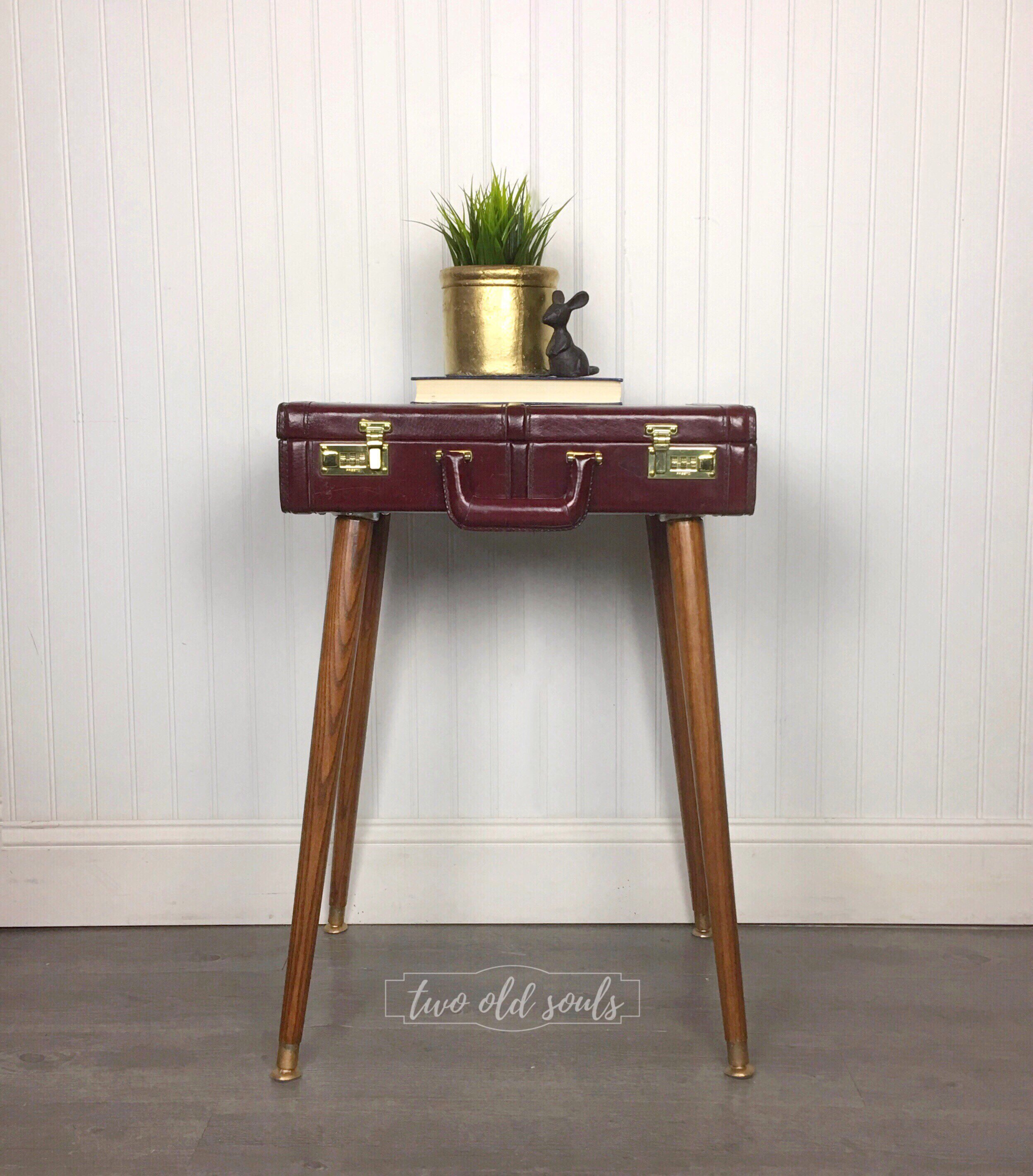sold briefcase end table steampunk bedside vintage etsy fullxfull timor wood trunk accent antique white coffee sets safavieh storage bench small with marble top tablet usb for