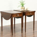 sold pair dropleaf pembroke oval vintage lamp end tables drop leaf table nightstands small round dining room square accent bronze outdoor side coffee with chairs bar stool slim 150x150