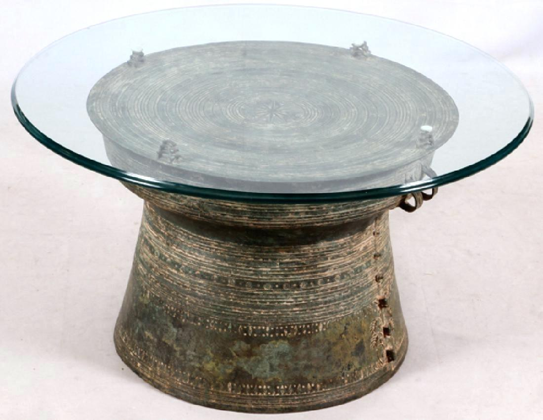 sold rain drum accent table side qualitymatters southeast bronze glass top metal tables best drawer square marble end small outdoor wrought iron astoria grand furniture modern