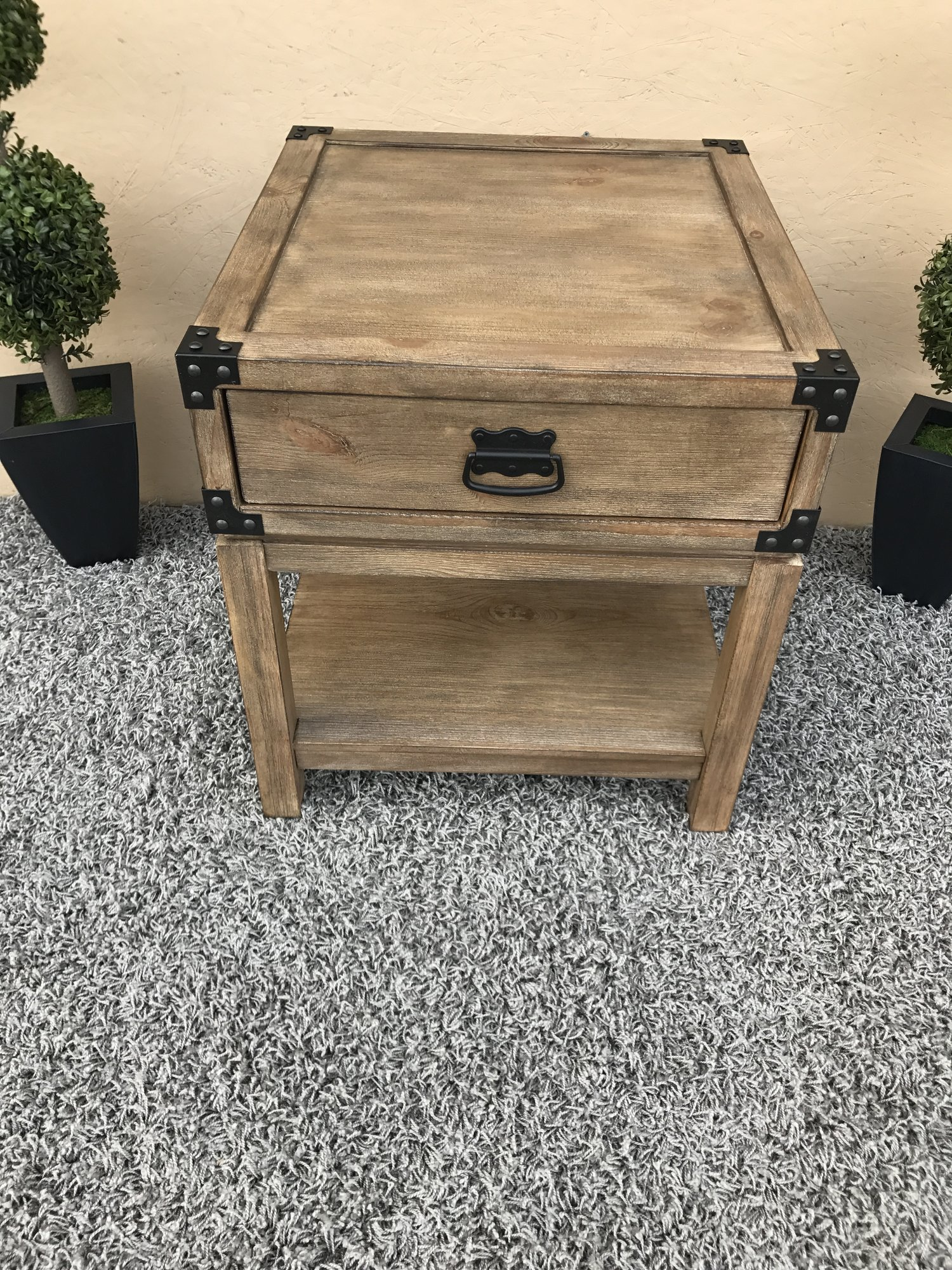 sold treasure trove accents carmel burnished natural finish trunk img accent end table carpet door threshold half moon glass solid marble coffee wood and metal furniture ashley