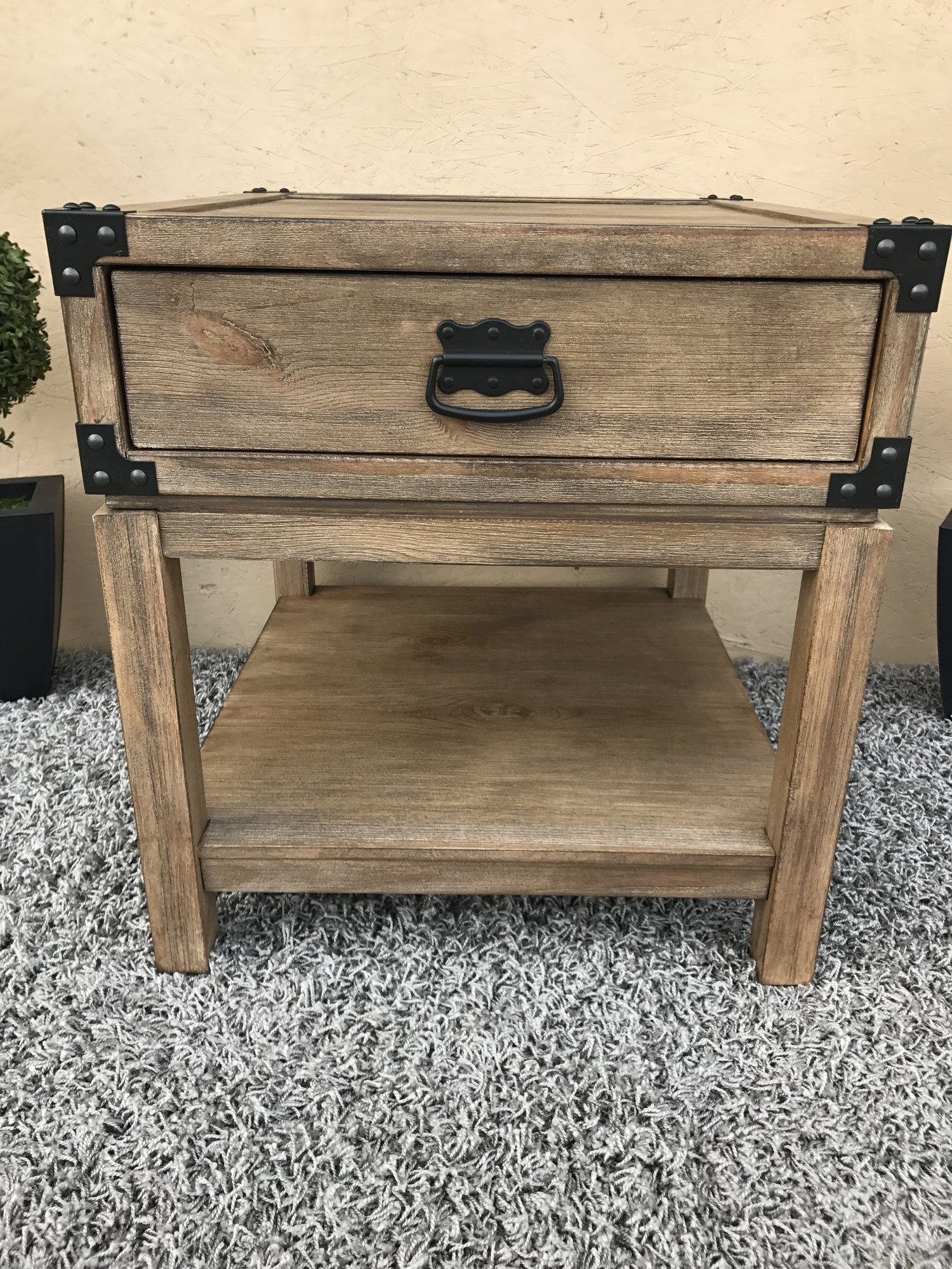 sold treasure trove accents carmel burnished natural finish trunk img accent end table large with storage ikea book shelves carpet door threshold black and silver lamps college