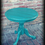 sold vintage accent table turquoise shabby chic etsy fullxfull fvrw teal blue inch bistro hammered metal coffee square lucite bronze glass demilune console tall with stools clear 150x150