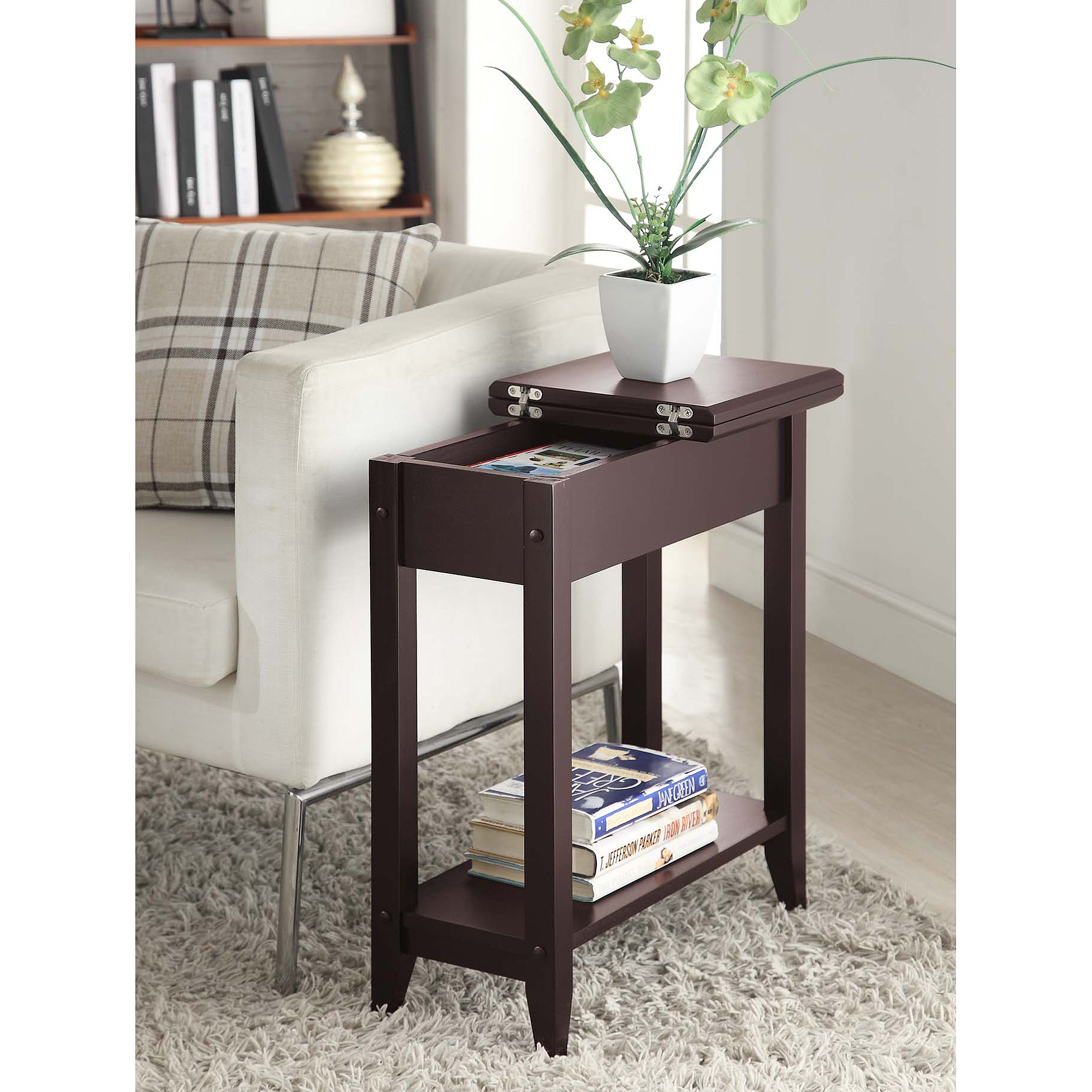 solid black coffee table the fantastic awesome skinny end american heritage flip top tall side multiple colors with drawer small bedside dresser graco high chair glass occasional