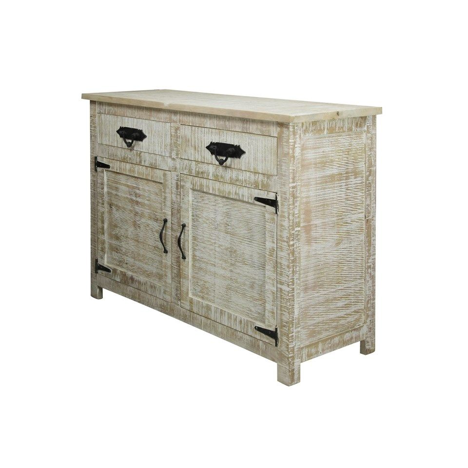 solid mango wood sideboard distressed white wash finish door eryn accent table drawer with metal hardware decor furniture tiffany lily lamp shades canvas patio umbrella tilting