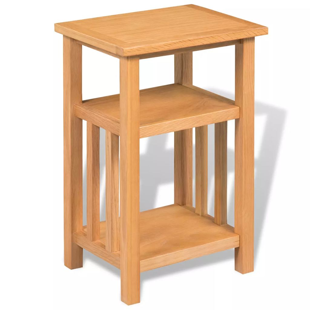 solid oak end table side stand accent corner unit display magazine shelf green pier one imports and chairs circle metal coffee round marble dining your focus runner free pattern