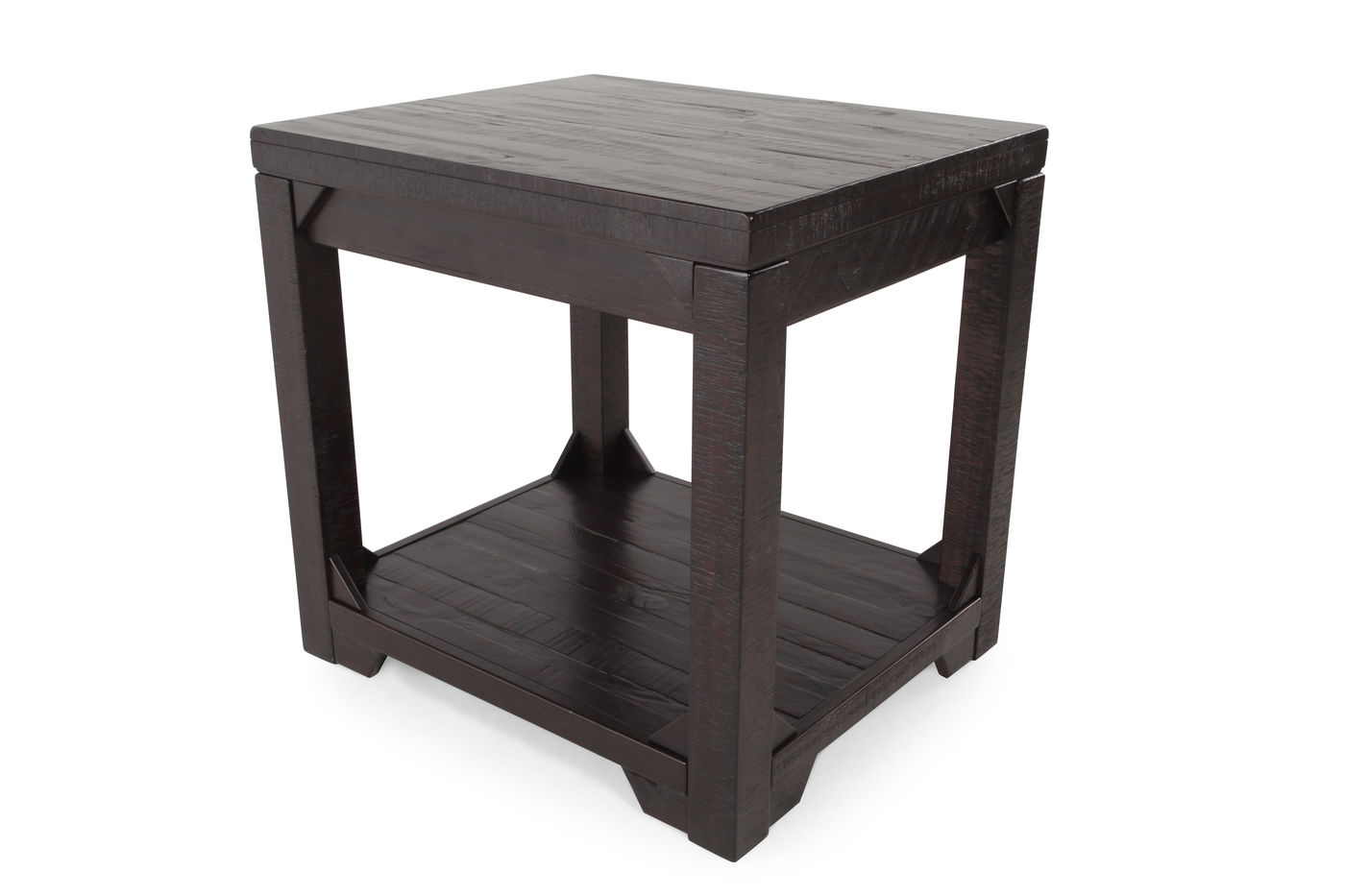solid pine distressed end table dark rum mathis brothers furniture ash wood plans ikea kitchen chairs tall skinny tables chest gold occasional ashley sofa wooden dog crate lace