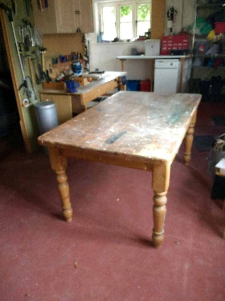 solid pine kitchen table middlesbrough north yorkshire gumtree chawston oval accent cupboards ashley furniture carlyle coffee dining metal side ikea home goods tablecloths end