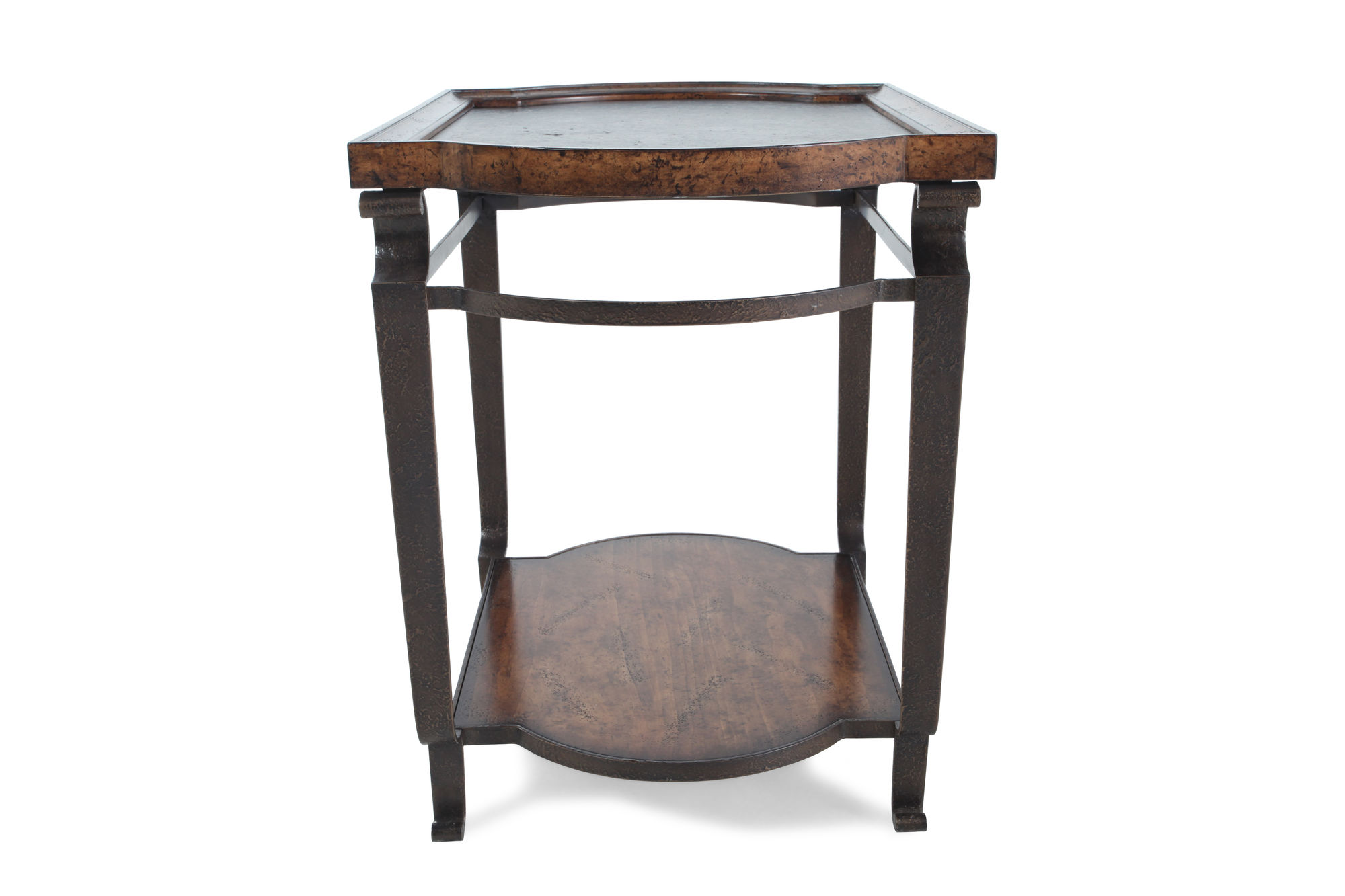solid radiata pine tray top end table weathered nutmeg mathis artf quatrefoil wood accent astoria leather sofa purple tablecloth diy legs ideas patio umbrella hole insert drum