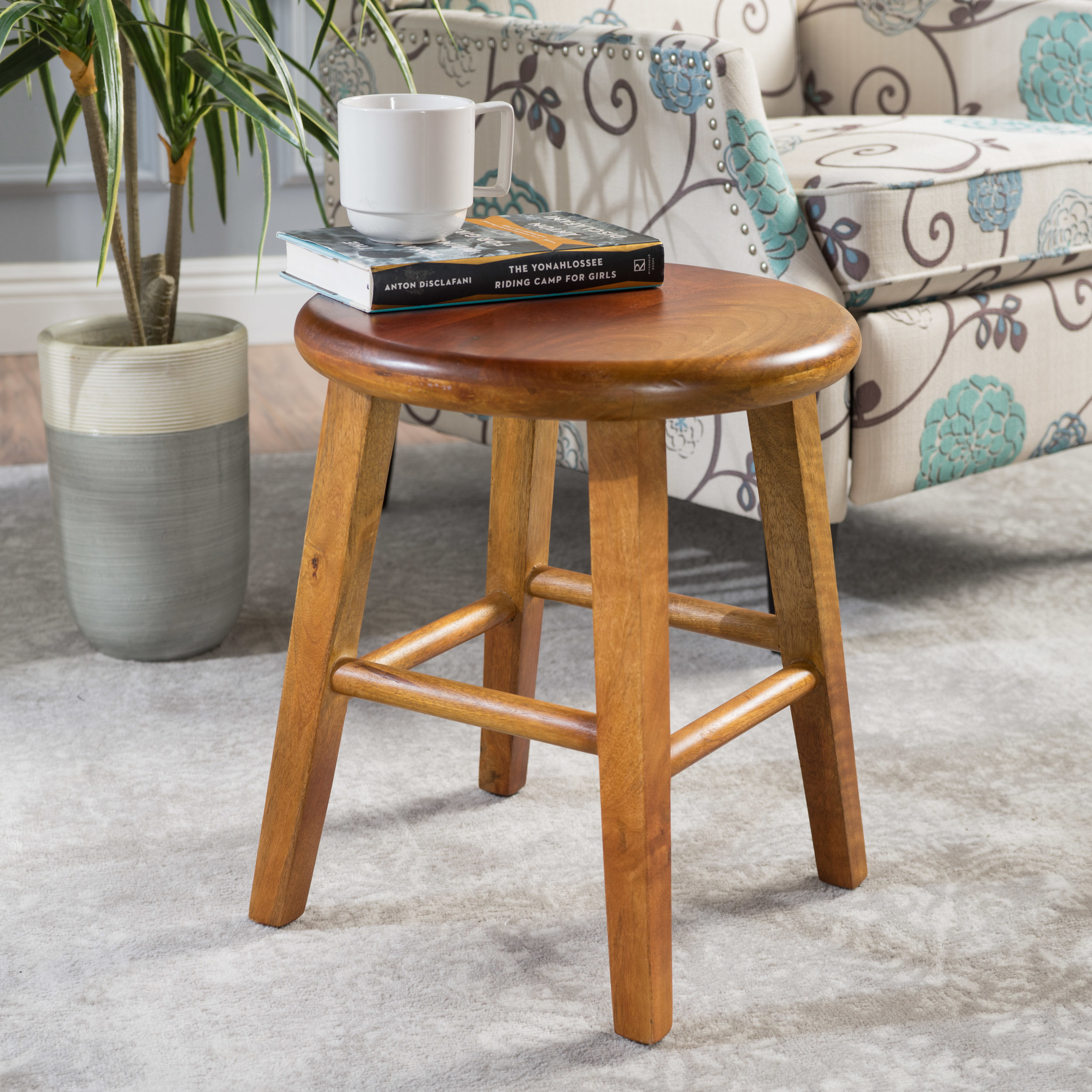 solid wood accent stools birch lane kingfield stool anton table quickview ice container bamboo bedroom furniture gold home decor rustic white side party cloth brass and glass