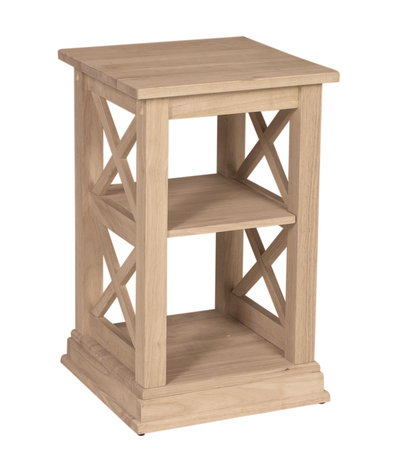 solid wood accent table update your home with natural unfinished furnishings naturalwoodfurnishings solidwoodfurniture diy customfurniture entrance mirror cabinet end tables built