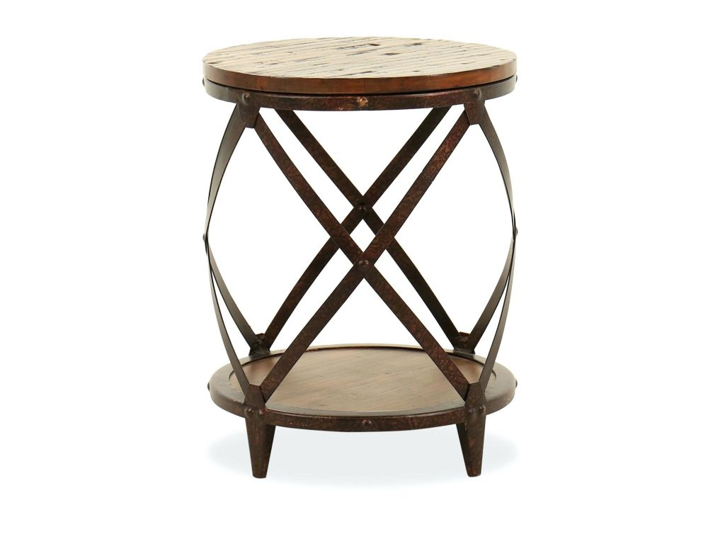 solid wood accent tables faux round table square target small oval lani mango avani drum end side brothers kitchen engaging distressed transitional rich brown large size pottery