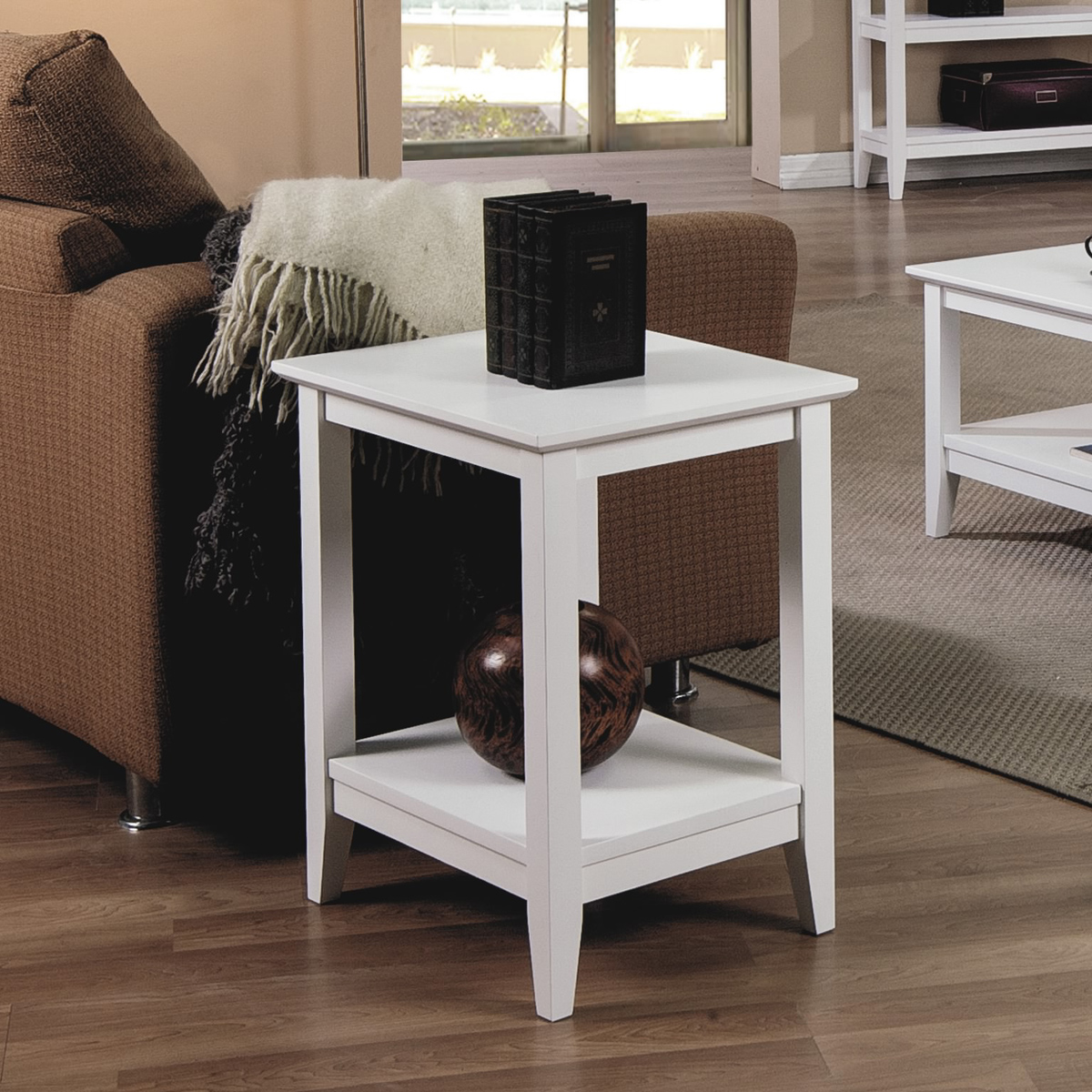 solid wood accent tables round table quadra end white crate and barrel teton outdoor furniture seat covers hot pink side bench contemporary lights room essentials mixed material