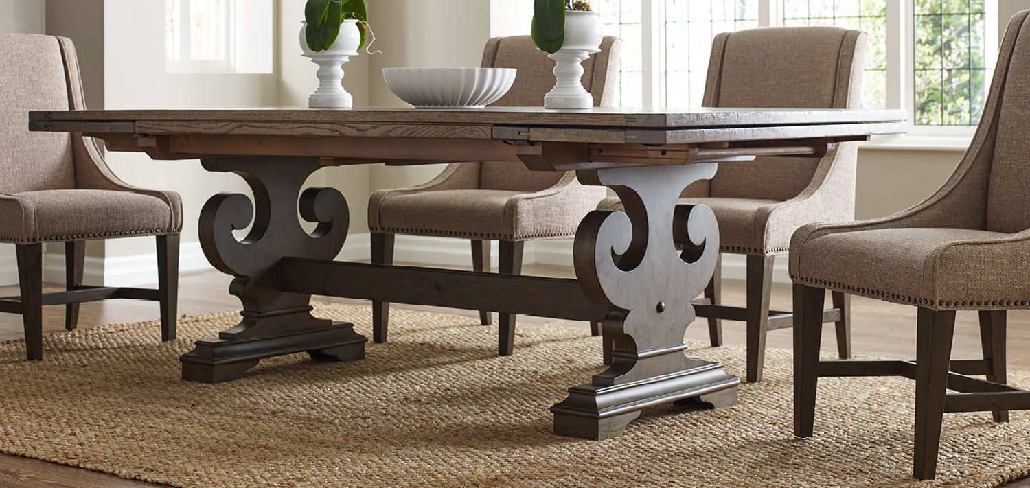 solid wood furniture and custom upholstery kincaid dining room table ave six piece fabric chair accent set few things are still made the way they used placemats coasters