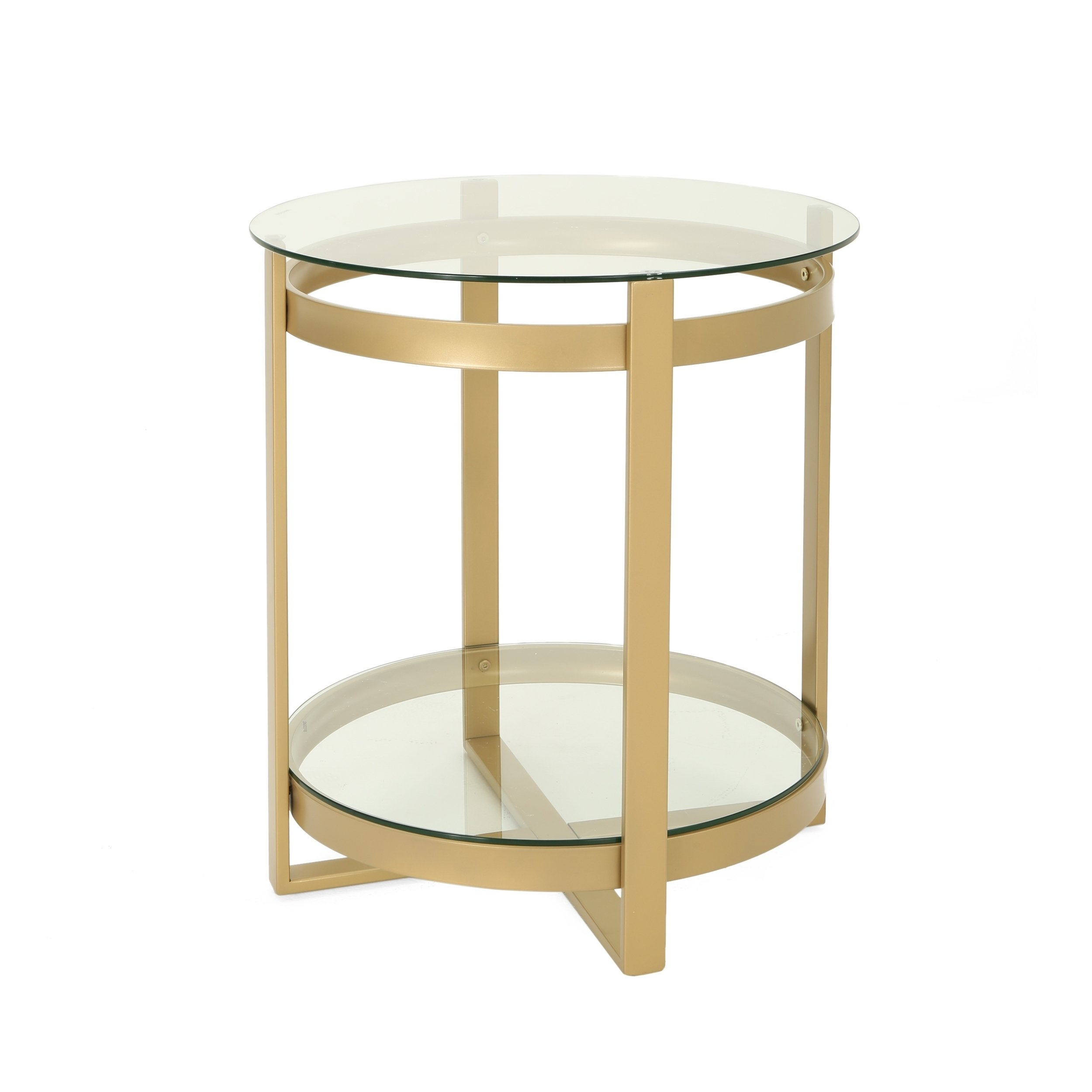 solidago modern round tempered glass coffee with iron frame christopher knight home accent table details about french small sofa toronto and chairs for spaces metal top end