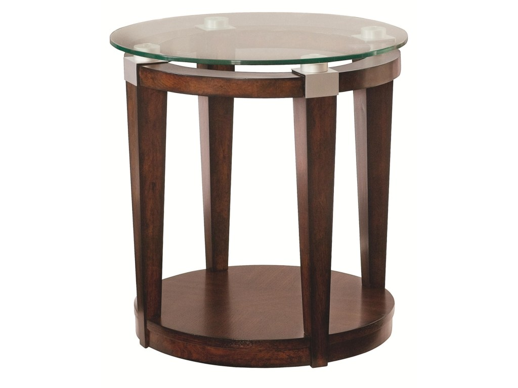 solitaire contemporary round accent table with glass top morris products hammary color tables home solitaireaccent tall nightstands clearance black mirrored bedside coffee set