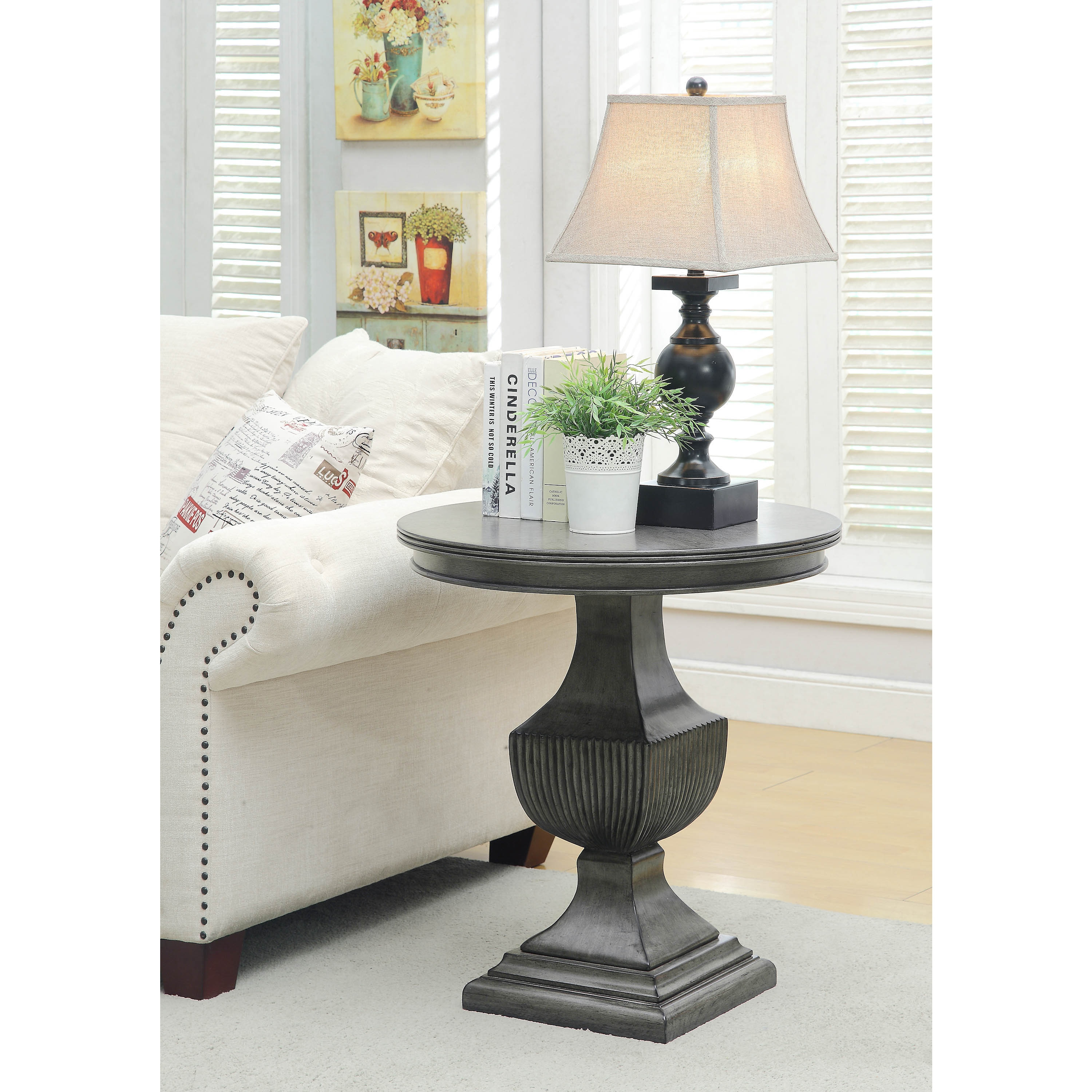 somette burnished grey round accent table free shipping today linens mini end carpet reducer furry chair target nautical bar lights tiffany leadlight lamps pier one cushions