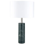 sonete green marble base and white cotton shade table lamp zuri barrel light gray frosted glass cylinder accent mouse over zoom click view larger pier one ture frames slim storage 150x150