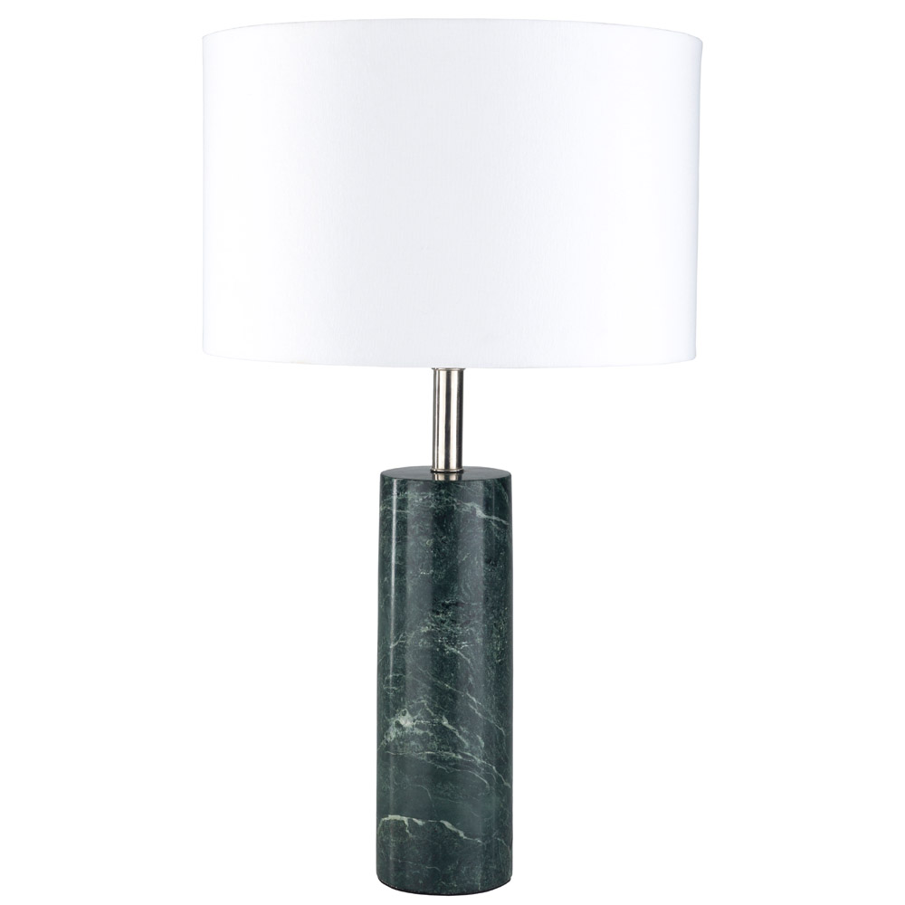 sonete green marble base and white cotton shade table lamp zuri barrel light gray frosted glass cylinder accent mouse over zoom click view larger pier one ture frames slim storage