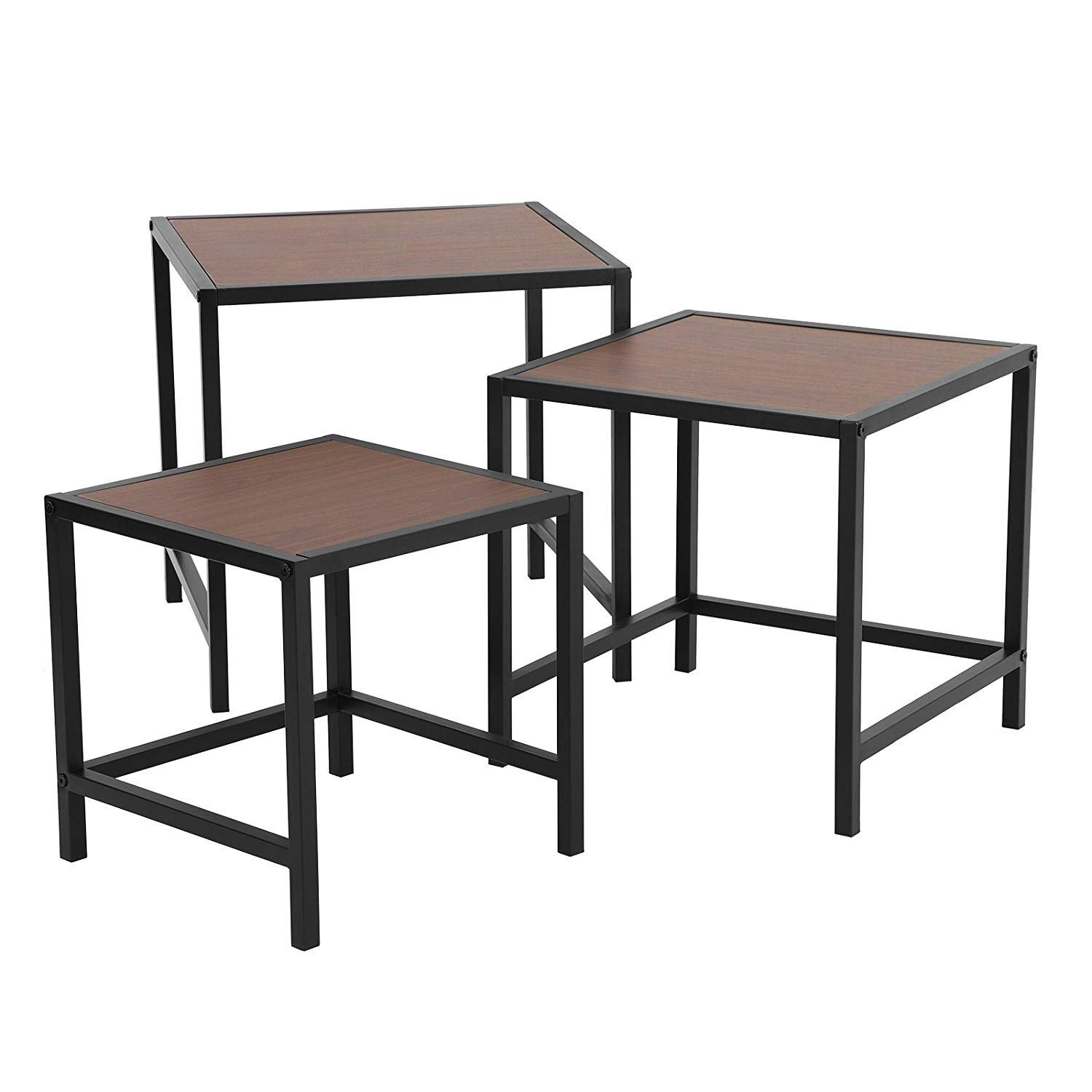 songmics nesting coffee table set for living room winsome accent instructions end side tables nightstand modern decor small space sturdy and easy assembly rectangular marble kmart