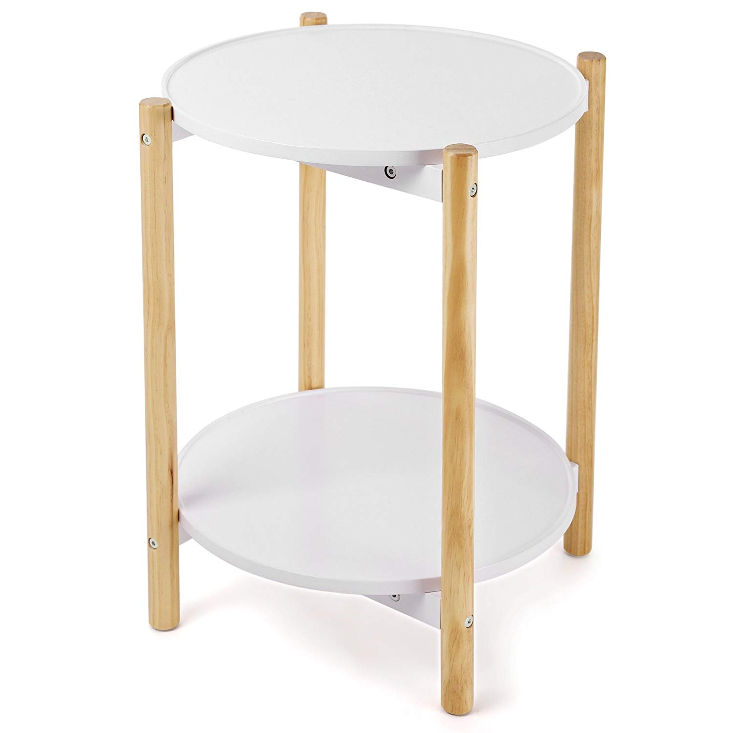 songmics tier side table scandinavian end with accent removable tray trays round coffee solid pine legs nature white arc floor lamp anthropologie furniture acrylic sofa narrow