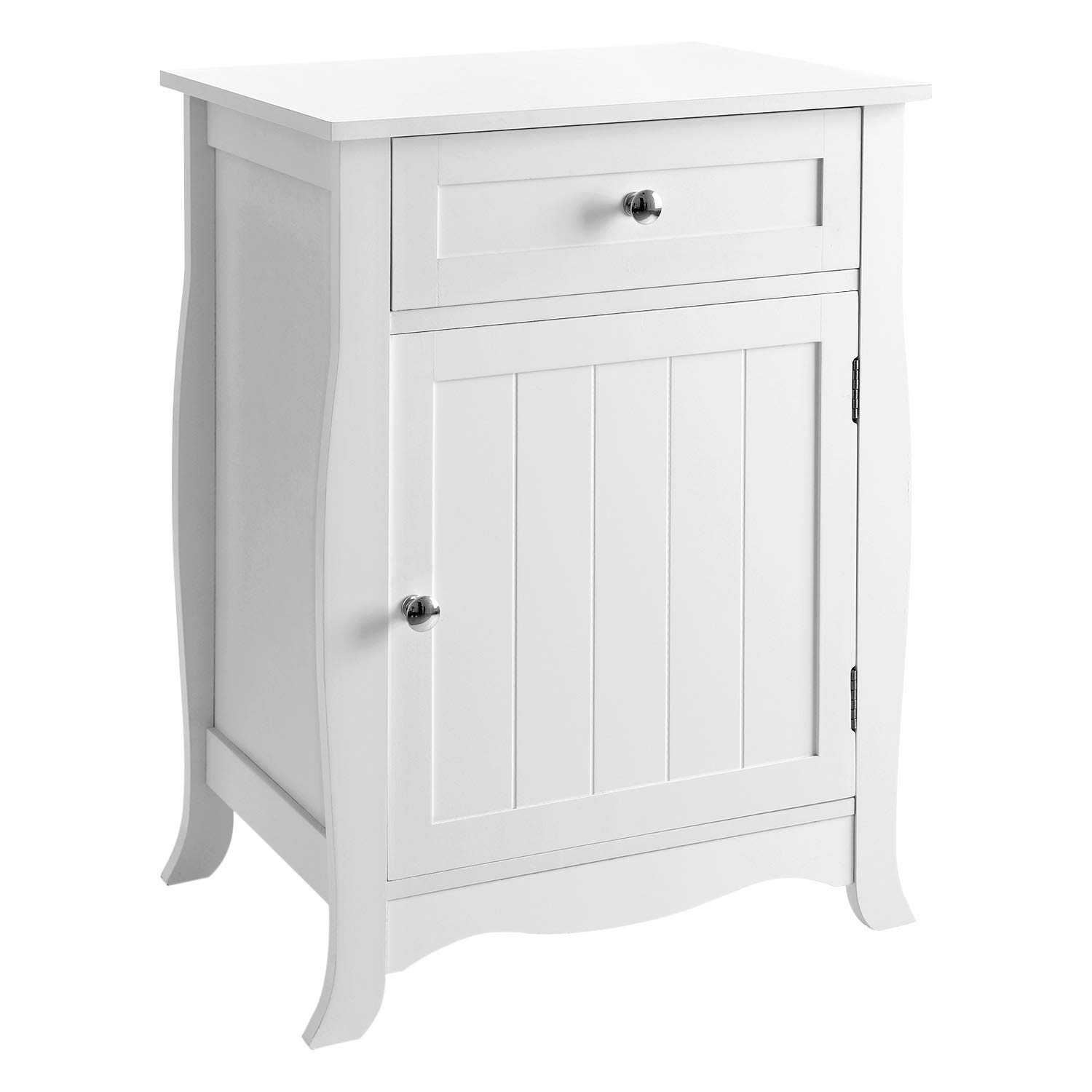 songmics white nightstand end table with storage winsome accent instructions cabinet and drawer wooden bedside large capacity easy assemble kitchen inexpensive patio chairs box