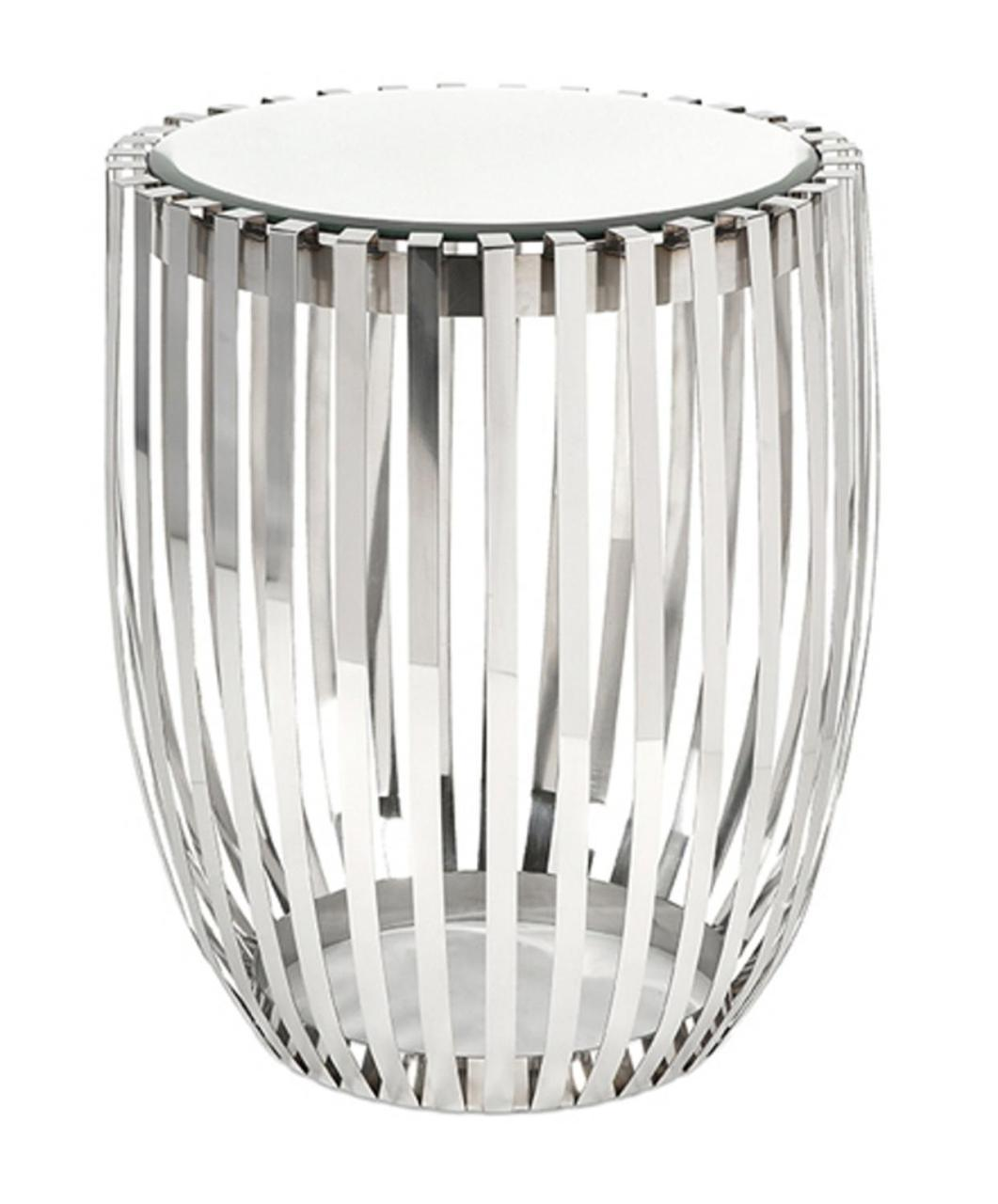 sophisticated polished steel rib mirrored top drum accent white table and round resin patio concrete home decor art narrow trestle all weather wicker side marble brass coffee