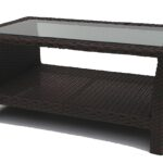 source outdoor circa wicker round coffee table with glass inset all weather wickerparadise top resin ott small umbrella hole patio trunk side full size dark brown entry inch end 150x150