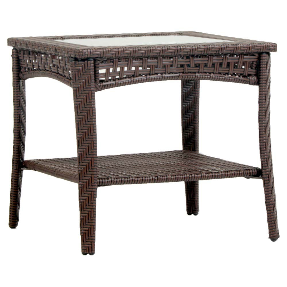 south sea rattan wicker end table mid century accent round black drum clear coffee silver trestle live edge brown threshold dark wood side small narrow vintage nightstands light