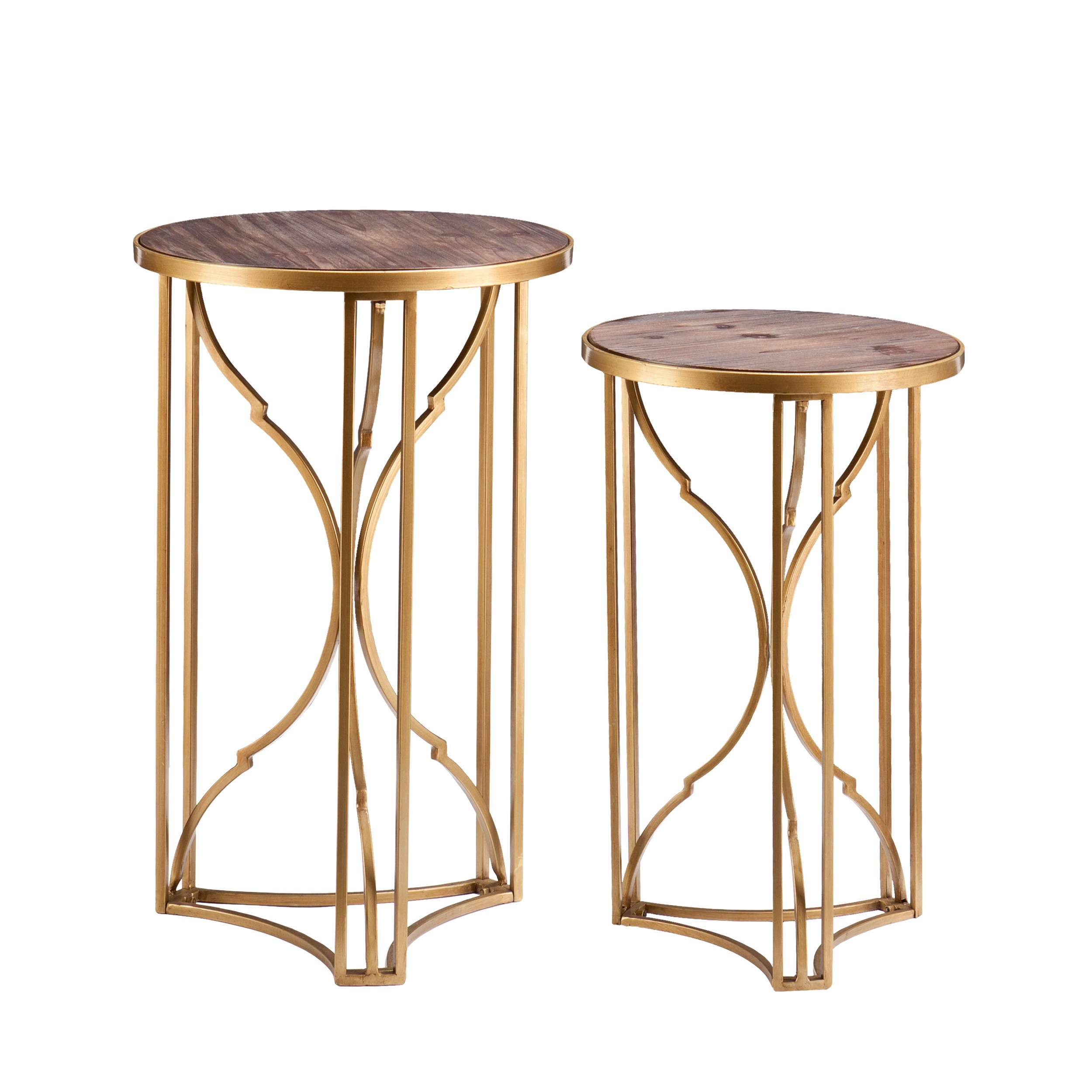 southern enterprises alaina matte gold wood grained accent table set round quilted toppers nautical bathroom sconces dining chair design new furniture plexiglass nesting tables