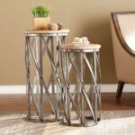 southern enterprises baltimore antique silver end table accent hollywood mirrored green furniture side french style small country decorating ideas dining with leaf battery powered 150x150