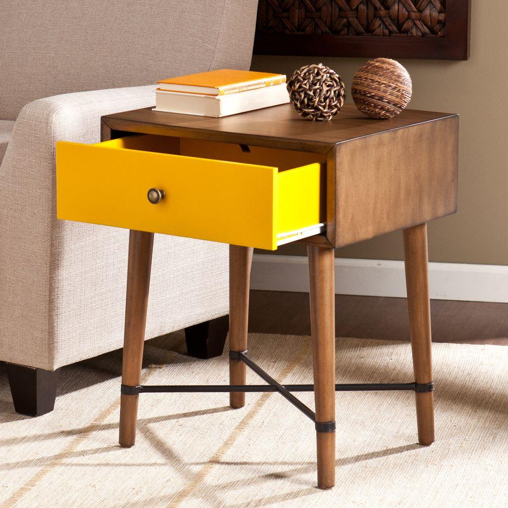 southern enterprises benton dusty oak end table the home yellow tables accent rustic white console glass chest drawers retro modern chairs marble bistro christmas linen bunnings
