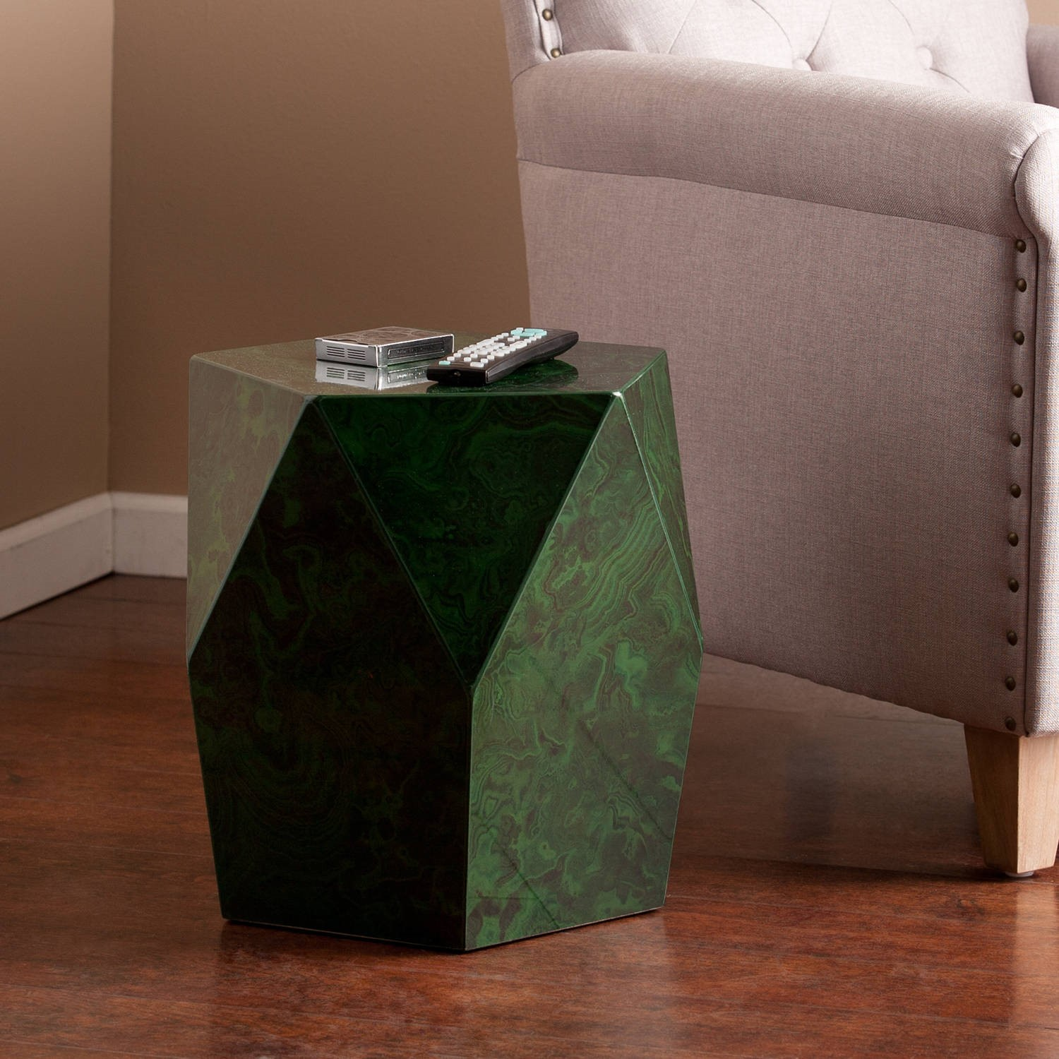 southern enterprises branford faux stone accent table green emerald departments wood stump side inch wide nightstand small square computer desk furniture west elm rocking chair