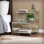 southern enterprises knox glam mirrored accent table chrome inuse metallic kidney shaped cocktail target threshold curtains slim couch contemporary desk lamps foyer cabinet 150x150