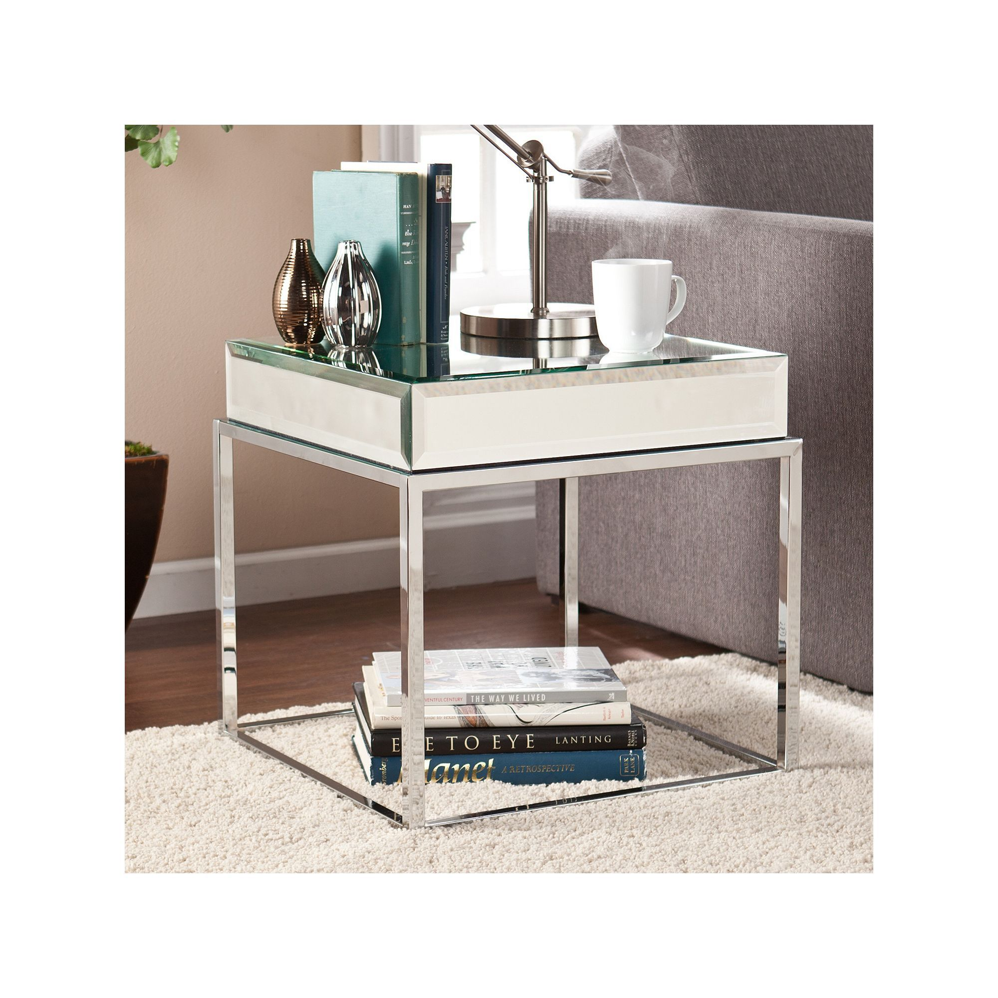 southern enterprises lucinda mirrored end table other clrs uttermost laton accent furniture made usa small patio set metal occasional tables chest drawers marble iron coffee west